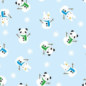 Snow Bunny & Snow Panda