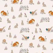 Woodland Illustrative print wallpaper