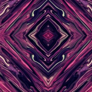 DPM - Liquid Deep Purple and Magenta,  Diamonds on Point, Small