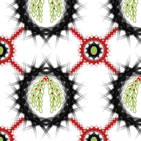 Mistletoe Wreaths fabric by sewindigo on Spoonflower - custom fabric