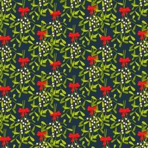 Mistletoe branches bouquet