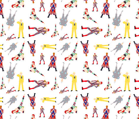 Ditsy Bowie's fabric by knight_costumes on Spoonflower - custom fabric