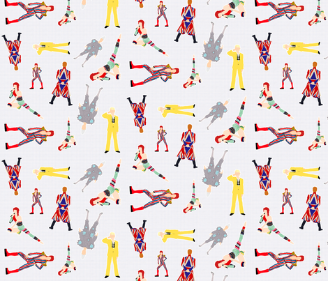 Graph_paper_Bowie fabric by knight_costumes on Spoonflower - custom fabric