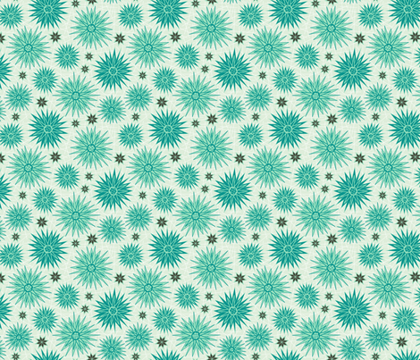 Geometric Cactus Flowers Shadow (Sunset) fabric by brendazapotosky on Spoonflower - custom fabric