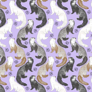 Cascading Ferrets -  medium purple
