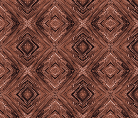 Liquid Chocolate Brown, Diamonds on Point, Small fabric ...