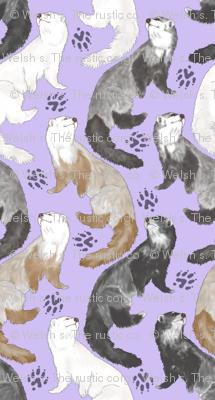 Cascading Ferrets - small purple