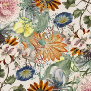 Floral Art Collage Pattern