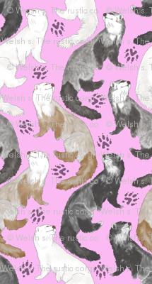 Cascading Ferrets - large pink