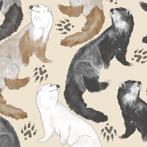 Cascading Ferrets - large tan