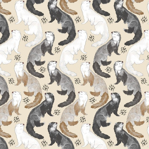 Cascading Ferrets - medium tan
