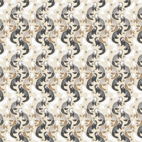 Cascading Ferrets - small tan