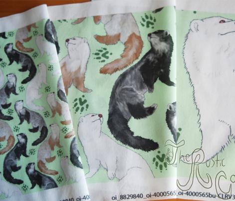 Cascading Ferrets - large green