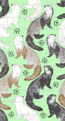 Cascading Ferrets - medium green