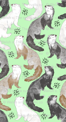 Cascading Ferrets - small green