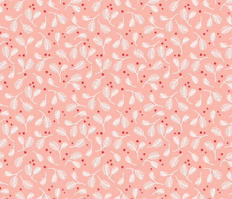 Pine-pink fabric by olive&me_studios on Spoonflower - custom fabric