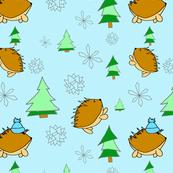 Hedgehog's Snow Day