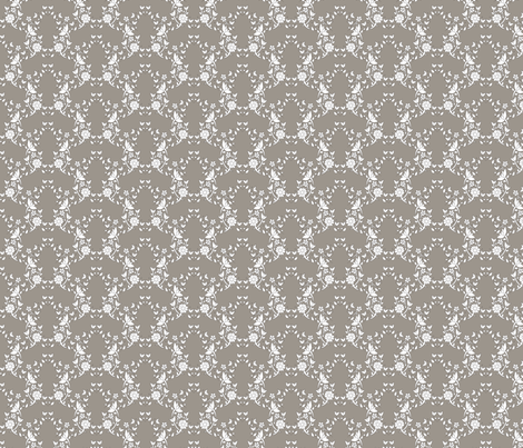Taupe Floral Lattice fabric by colettegorgas on Spoonflower - custom fabric