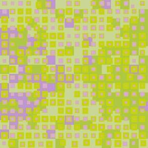 tiny squares green + lavender