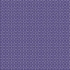 faux sashiko squares on soft purple