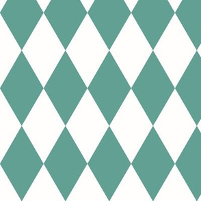 Harlequin diamonds - Aqua green