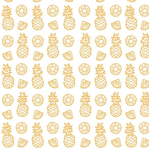 Pineapple Fruit on white