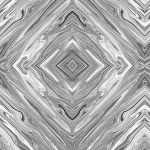 LLG - Liquid Light Grey Marbled, Pale Grey Diamonds, small