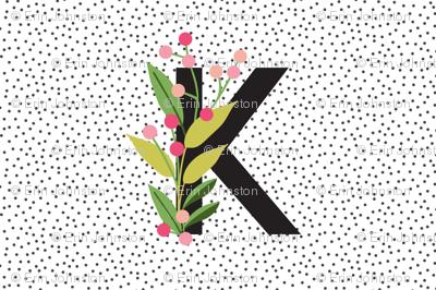 Garden alphabet - Letter K