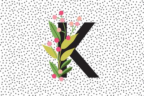 Garden alphabet - Letter K fabric by erin__kendal on Spoonflower - custom fabric