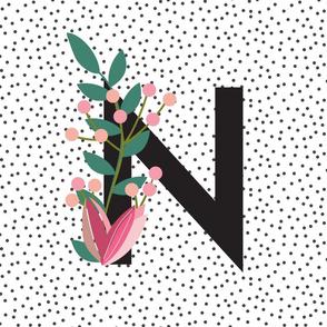Garden alphabet - Letter N