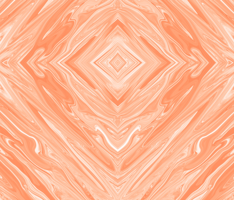 DPO - Liquid Orange Pastel, Dreamsicle Marbled Diamonds, large fabric by maryyx on Spoonflower - custom fabric