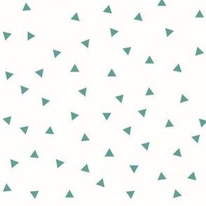 Tiny triangles - Aqua green on white
