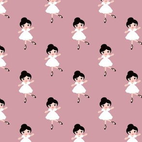 Sweet ballerina ballet dancing girls sweet kids print plum purple