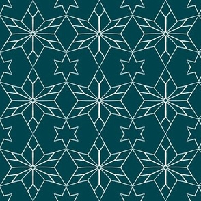 Rustic Star on Dark Teal
