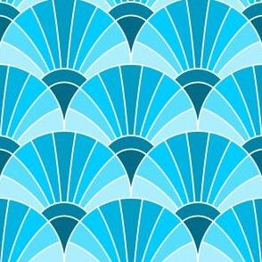 05960880 : fan scale : turquoise blue