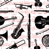 Musical Instruments // Red