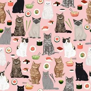 cat sushi fabric cute kawaii cat fabric
