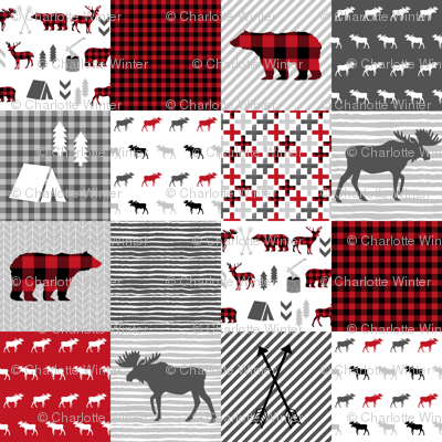 Buffalo Plaid Cheater Quilt Buffalo Quilt Moose Bear Cabin