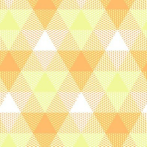 pineapple triangle gingham