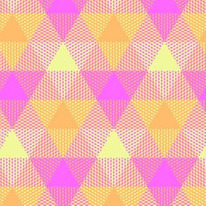 pink hawaiian triangle gingham
