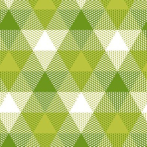 green apple triangle gingham