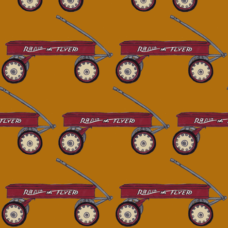Little Red Wagon fabric by edsel2084 on Spoonflower - custom fabric