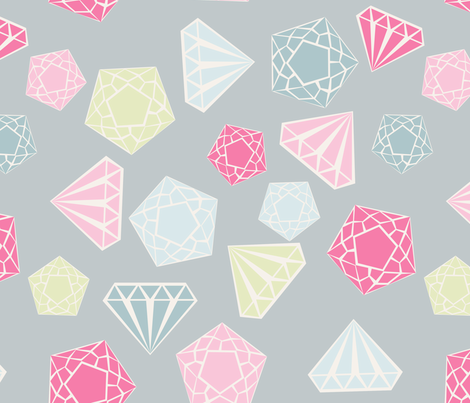diamant_fond_gris_L fabric by nadja_petremand on Spoonflower - custom fabric