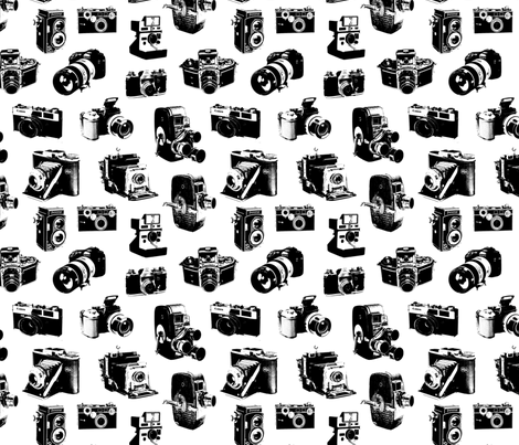 Vintage Cameras fabric by thinlinetextiles on Spoonflower - custom fabric