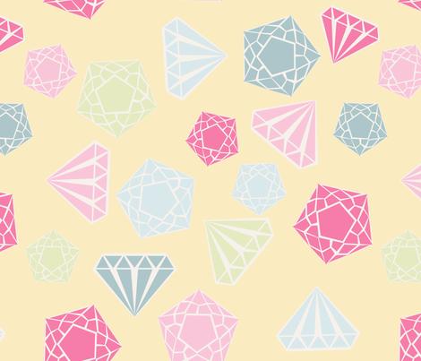 diamant_fond_jaune_L fabric by nadja_petremand on Spoonflower - custom fabric