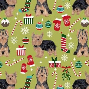 yorkie christmas dog fabric christmas dogs fabric yorkshire terrier dogs