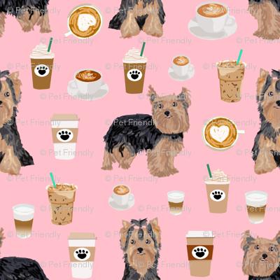 yorkie coffee fabric yorkshire terrier coffee design cute dogs fabric