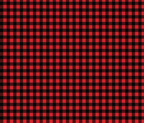Buffalo plaid - 1/2 inch - Red & Black fabric by howjoyful on Spoonflower - custom fabric