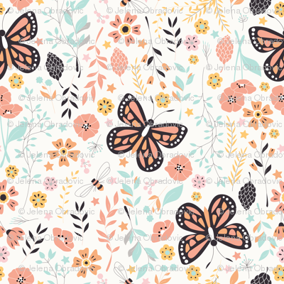Flowers and Butterflies 001