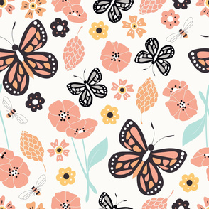 Flowers and Butterflies 003